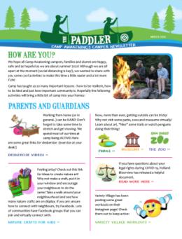 Paddler March 2020 Newsletter