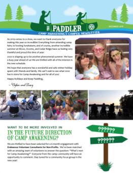 Paddler December 2019 Newsletter