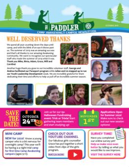 Paddler October 2019 Newsletter