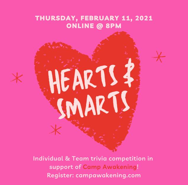 Hearts & Smarts Trivia event announcement