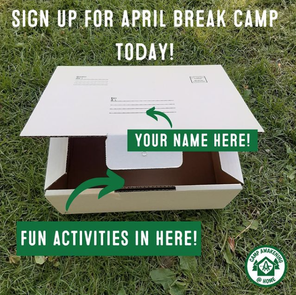 April Break Camp announcement
