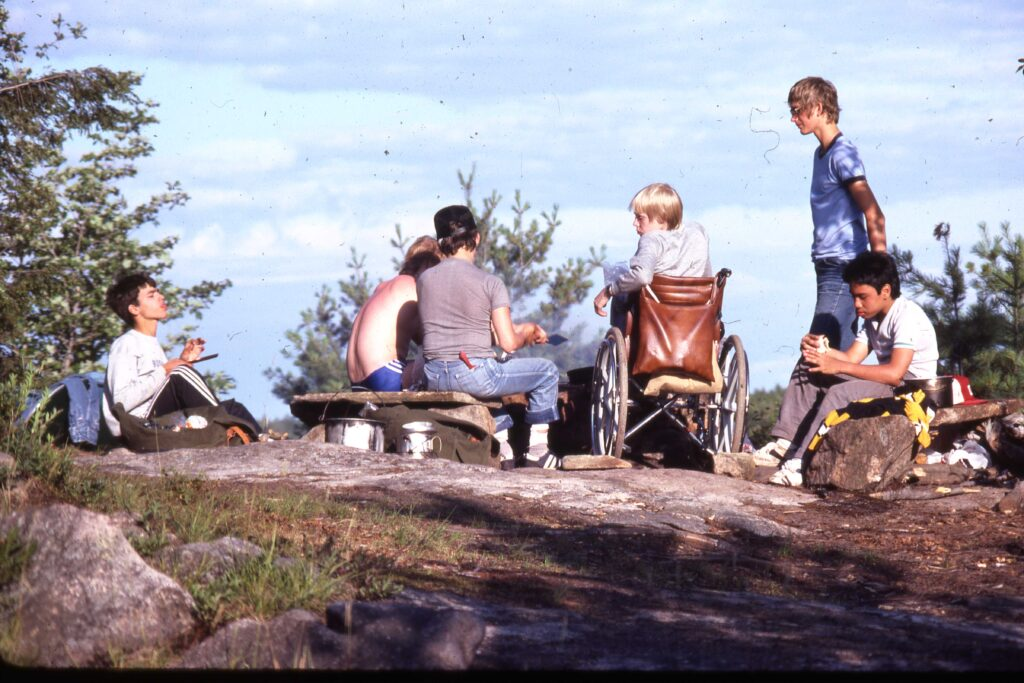 Archive photo from one of the first canoe trips in 1983 or 1984