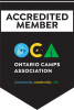 Ontario Camps Association accredited member camp logo and link to the OCA website